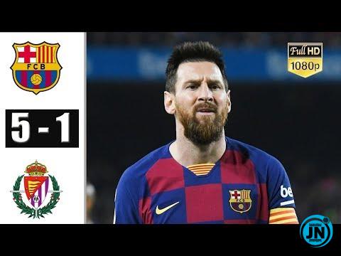 Barcelona vs Real Valladolid 5-1 – All Highlights & Goals